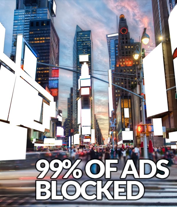 Solution: 99% ads blocked