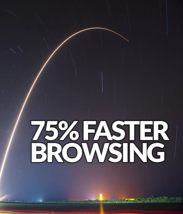 Solution: 75% Faster Browsing